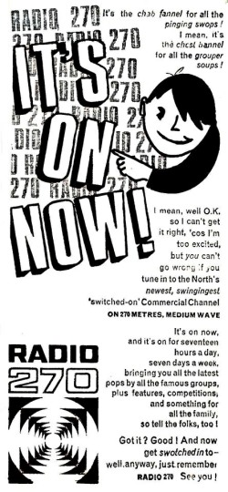 Radio 270 on air now press advert